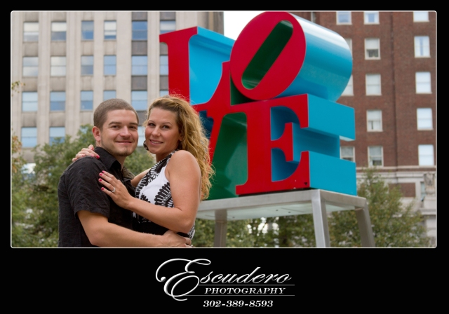 Love Park Engagement Photos