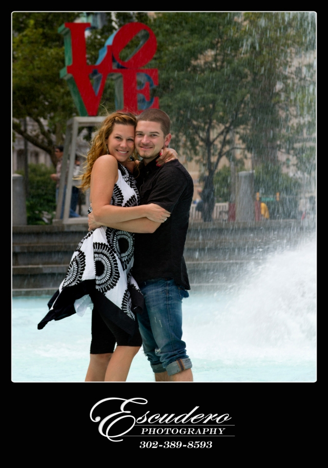 Professional Engagement Portraits at Love Park