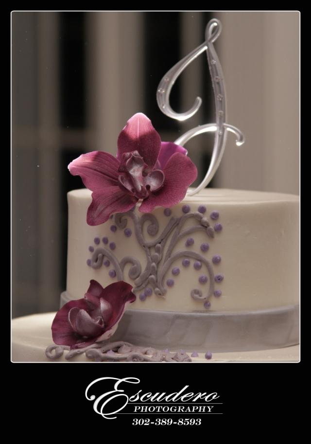 Delaware Wedding cake at Deerfield Country Club