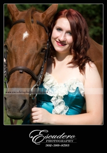 Senior Picture with Horse Delaware