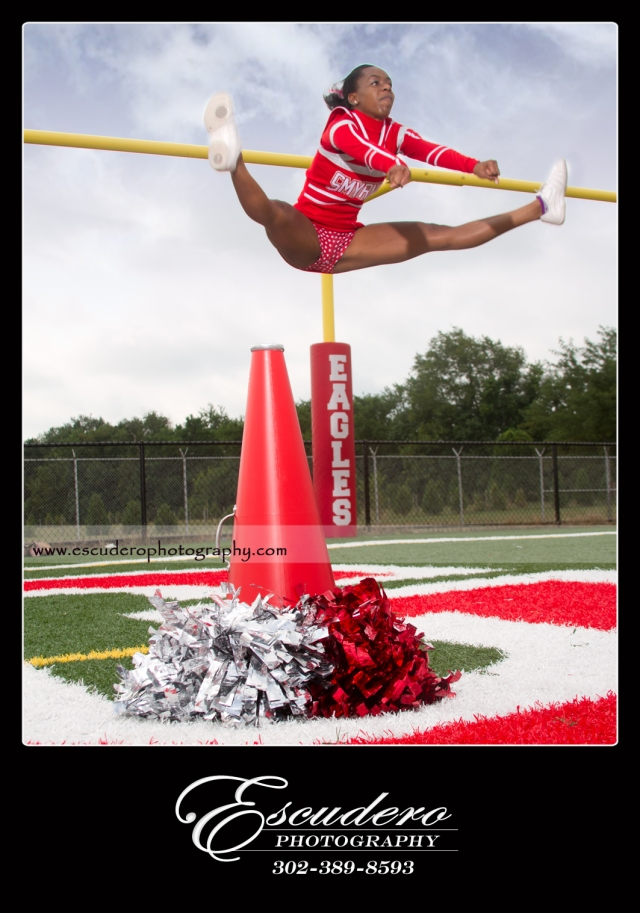Delaware Cheerleading senior picture
