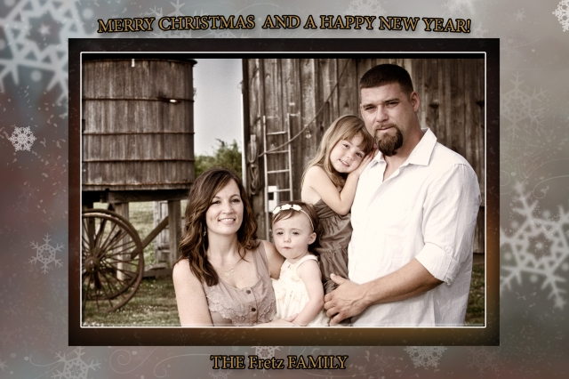 Escudero Photography sample christmas card