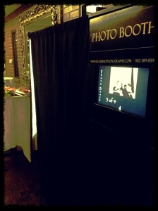 Wedding Photo booth in action
