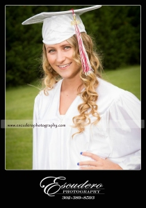 Senior Portrait Cap Gown Smyrna High School Delaware
