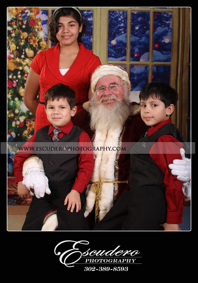 family portrait with santa